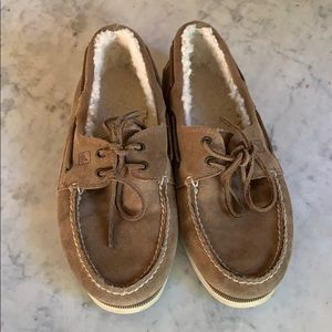Sperry Topsiders, Sherpa lined. Men's size 8.